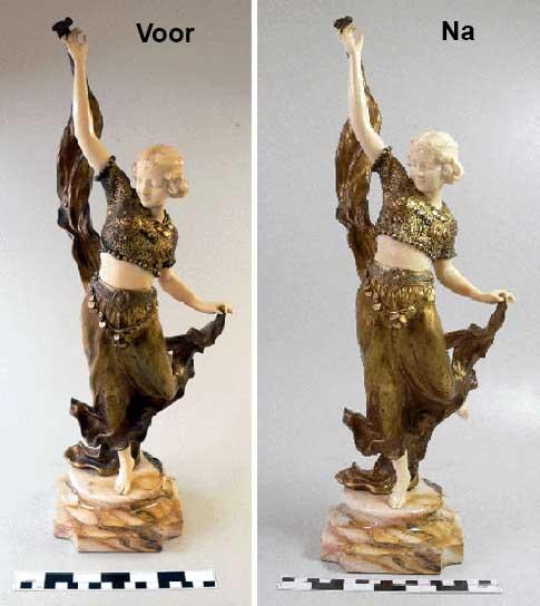 restauratie art deco figuur
